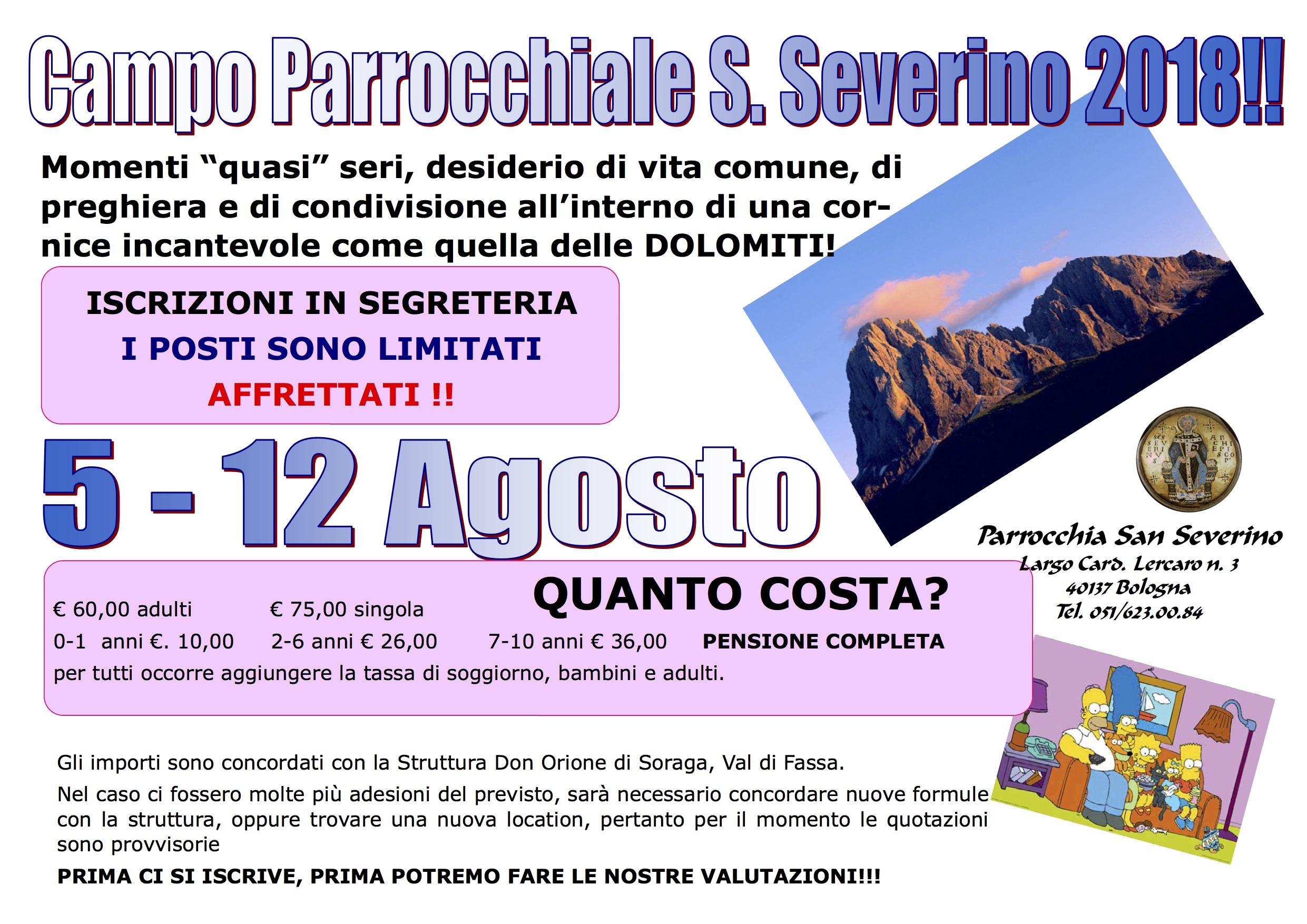 Campo Estivo Parrocchiale – Parrocchia di San Severino Bologna